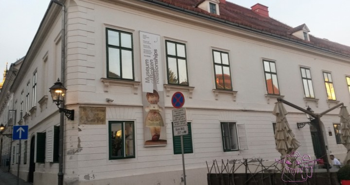 Museum of broken relationships is located inside baroque Kulmer palace.