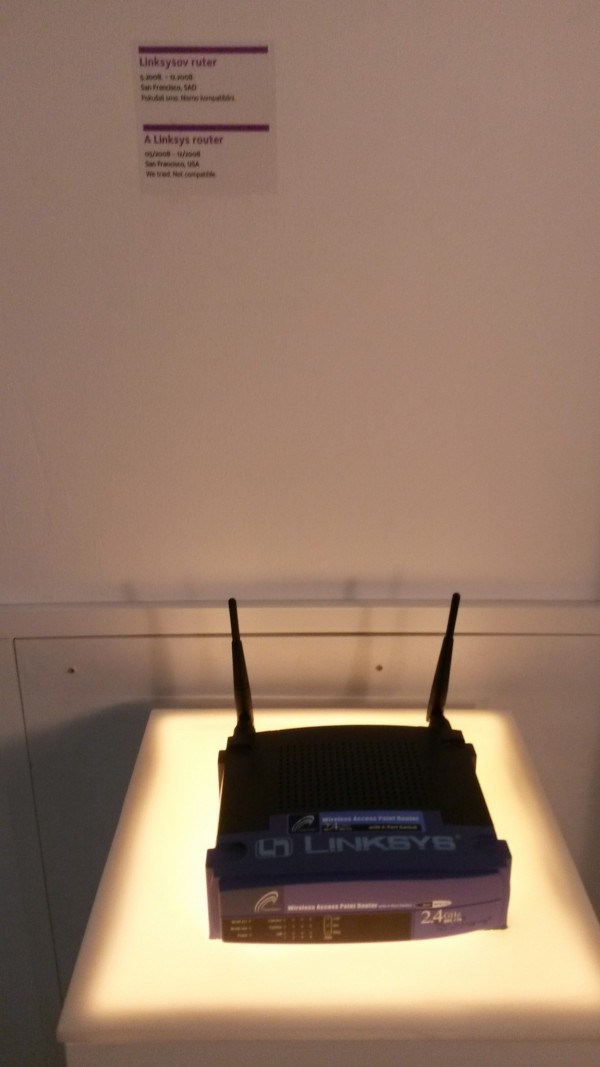 Wi-fi router represents lost love.