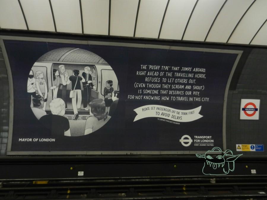 London, Tube, poster, tube rules