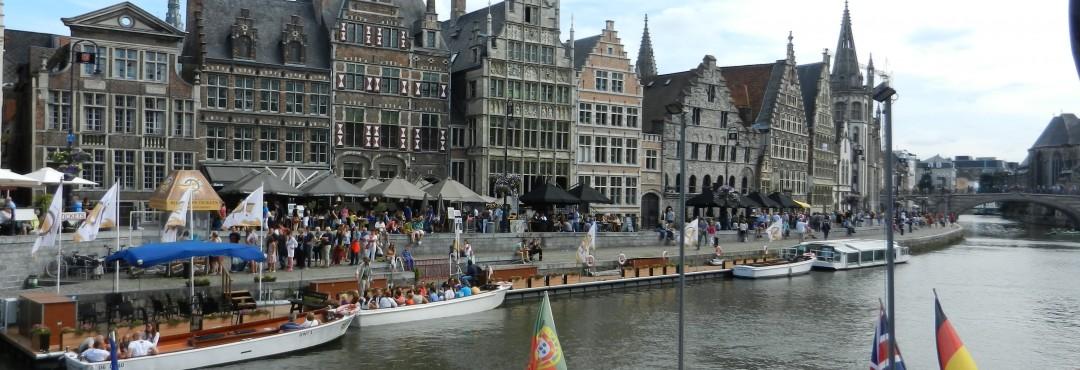 Gent, gent riverside, Ghent, Belgium