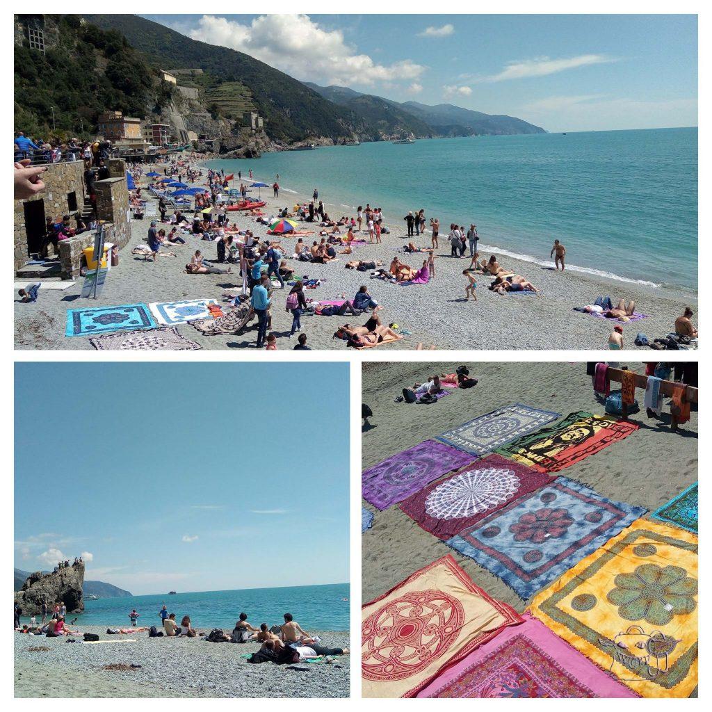 towel, sea, Monterosso, Italy, Cinque Terre