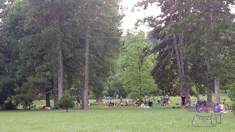 Tivoli, Slovenia, picnic in a park