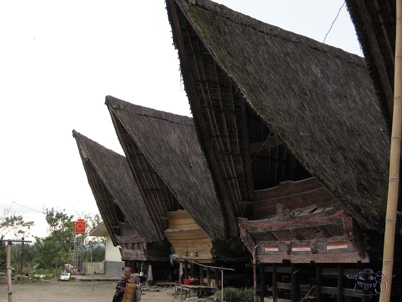 batik, Sumatra, traditional house