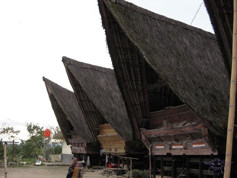 batik, Sumatra, traditional house