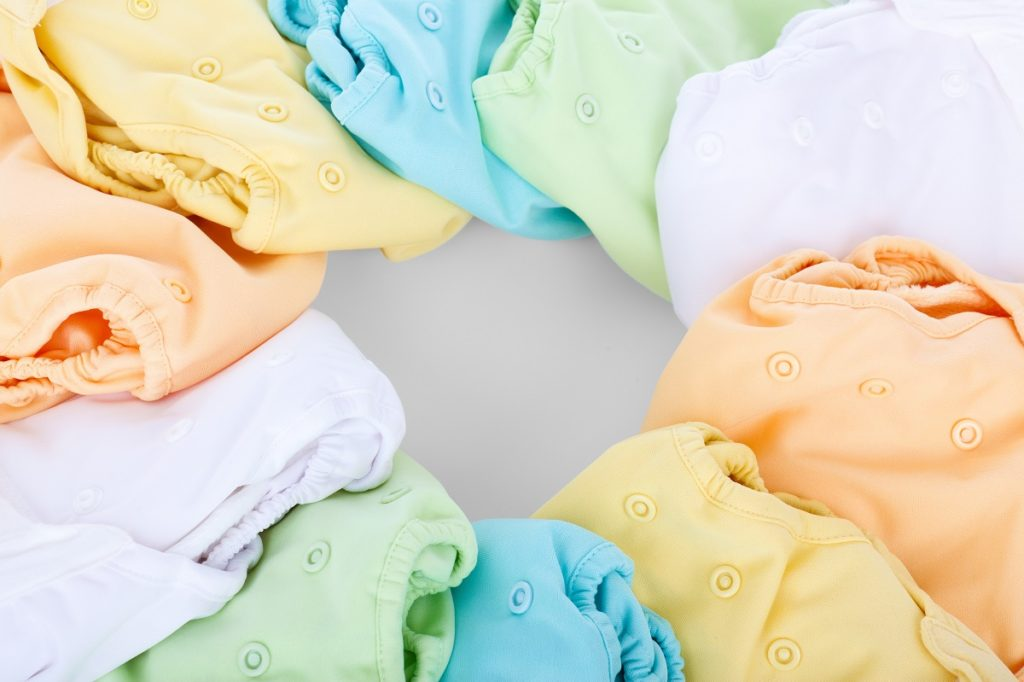 cloth nappies, rainbow,